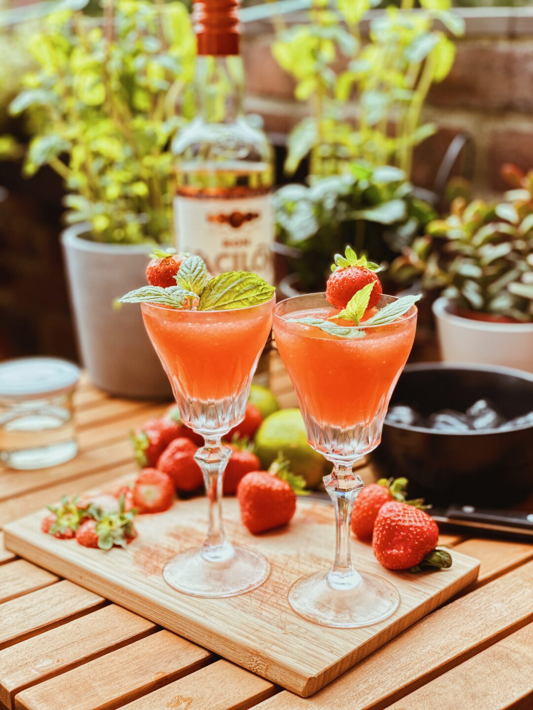 Frozen Strawberry Daiquiri für Zuhause